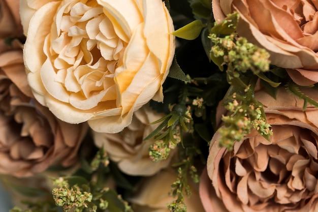 Mazzo delle rose del fiore del primo piano Foto Gratuite