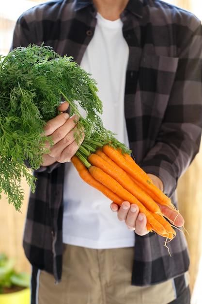 Mazzo di carote Foto Premium