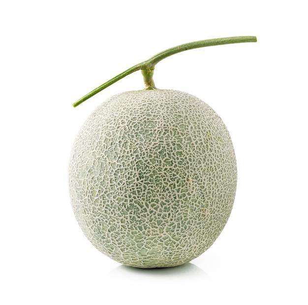 Melone del cantalupo isolato su fondo bianco Foto Premium