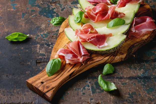 Melone e prosciutto Foto Premium