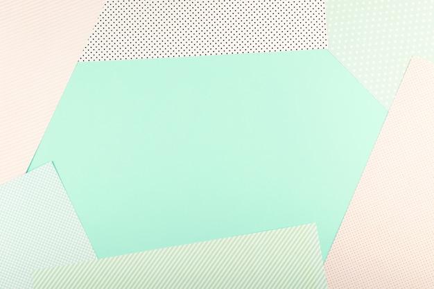 Menta blu e rosa di colore pastello carta geometrica piatta sfondo laici Foto Premium