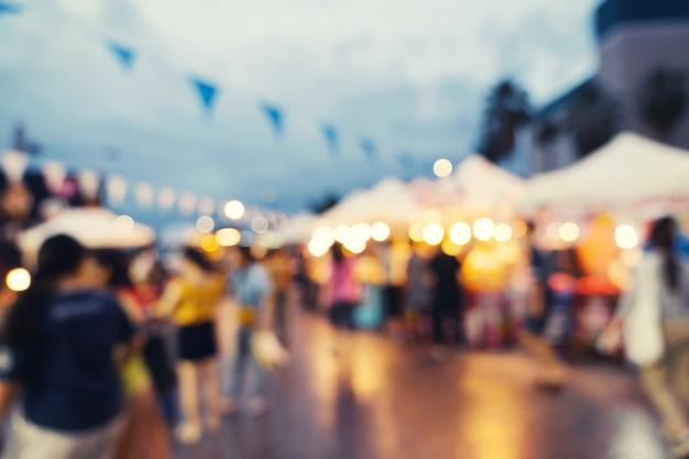Mercato astratto della sfuocatura al centro commerciale Foto Premium
