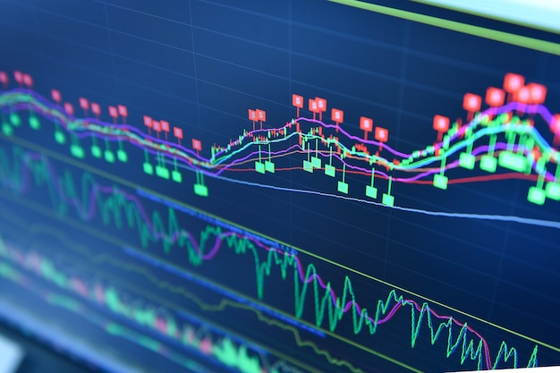 Mercato azionario in mostra Foto Premium