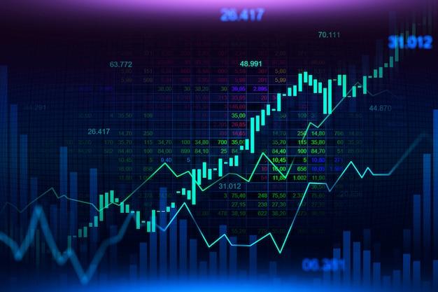 Mercato azionario o grafico commerciale forex in futuristico Foto Premium