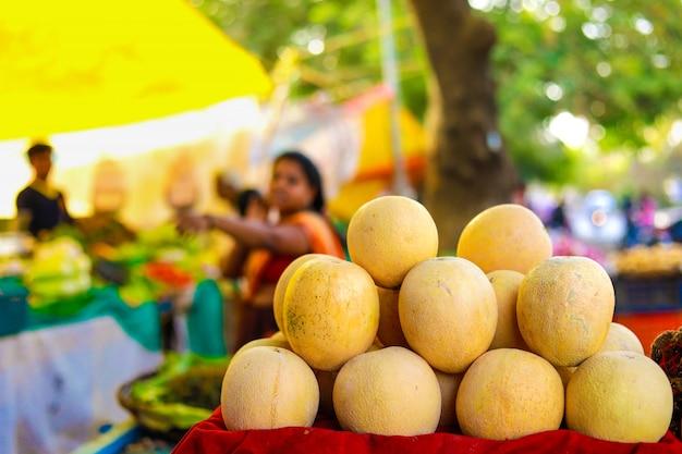 Mercato delle verdure indiane, cibo vegetariano Foto Premium