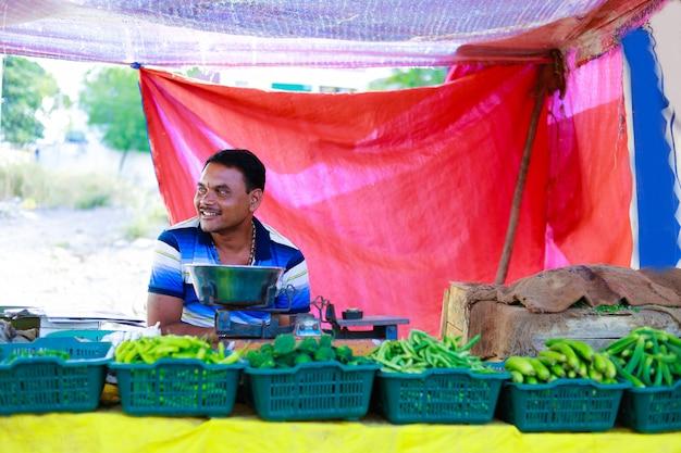 Mercato ortofrutticolo indiano Foto Premium
