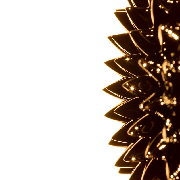 Metallo liquido ferromagnetico dorato con spazio di copia Foto Gratuite