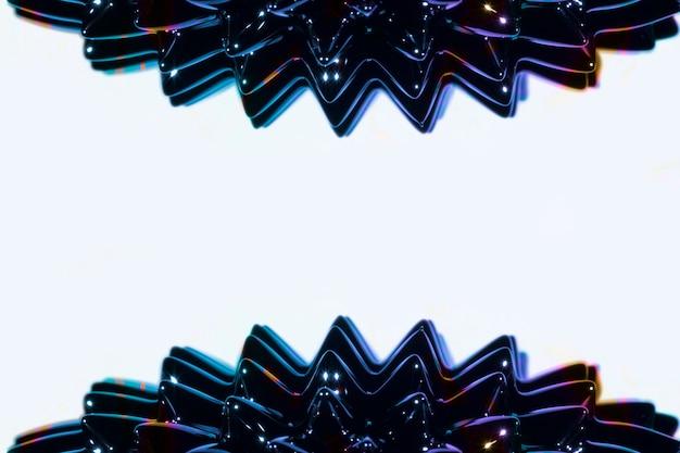 Metallo liquido ferromagnetico laterale con spazio di copia Foto Gratuite