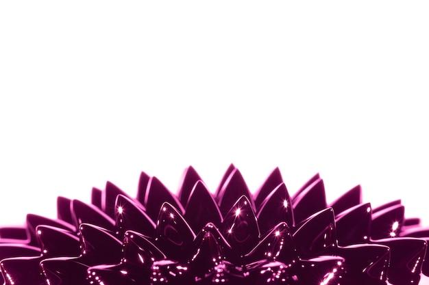 Metallo liquido ferromagnetico viola con spazio di copia Foto Gratuite