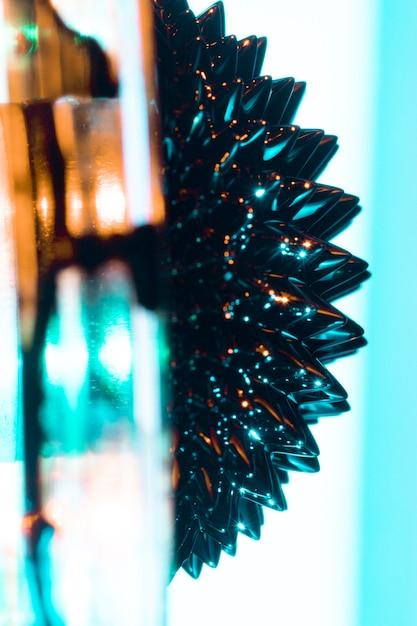 Metallo specchiato ferromagnetico laterale astratto Foto Gratuite