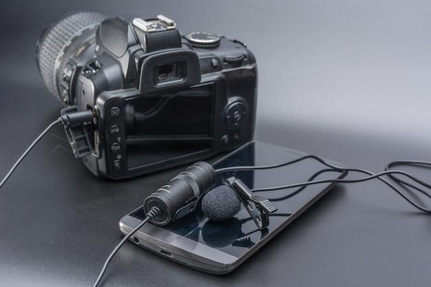 Microfono a risvolto Foto Premium