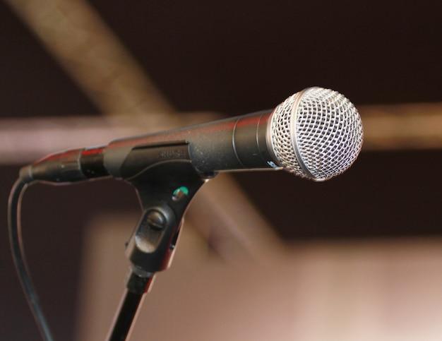 Microfono cantante Foto Premium