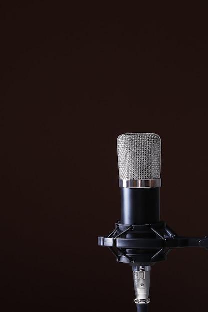 Microfono su oscurità Foto Gratuite