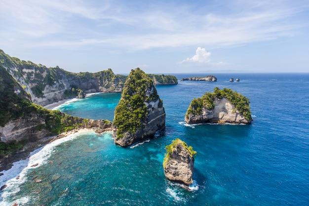 Mille isole su nusa penida, vicino a bali, l'indonesia Foto Premium
