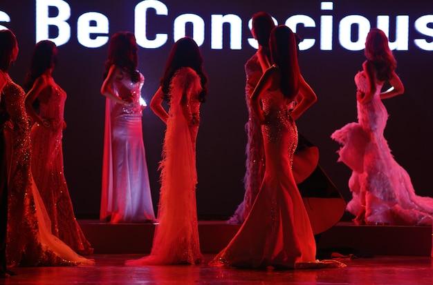 Miss beauty contest models Foto Premium