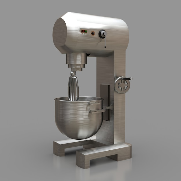 Mixer professionale per ristoranti, caffè e pasticcerie. rendering 3d. Foto Premium