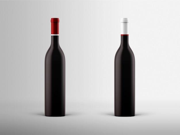 Mock-up della bottiglia di vino Foto Gratuite