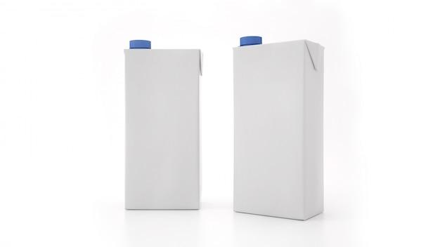 Mock-up di bottiglia di latte. etichetta vuota Foto Premium