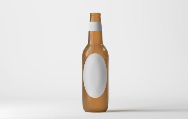 Mock up di una bottiglia di vetro Foto Premium