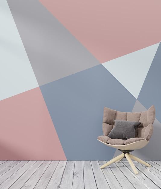 Mockup di pareti colorate interni soggiorno con sfondo ...