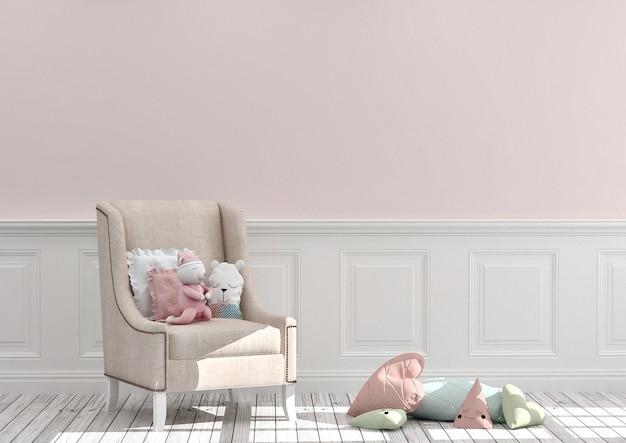 Mockup di sala giochi per bambini Foto Premium