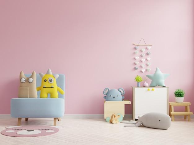 Mockup wall nella stanza dei bambini Foto Premium