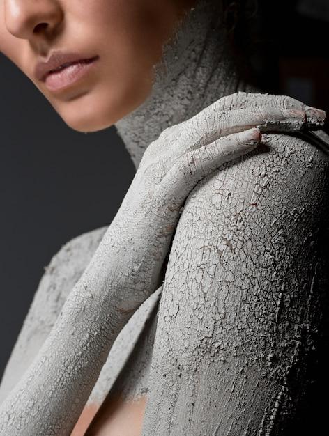Moda pelle secca. immagine d'arte Foto Premium