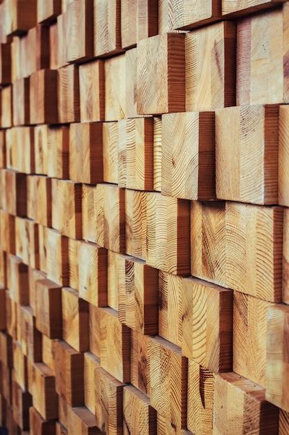 Modello del fondo dei blocchi di legno della decorazione Foto Premium