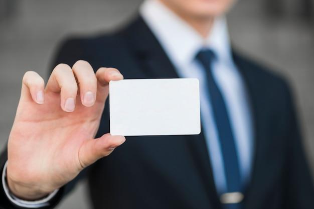 Modello di biglietto da visita della holding dell'uomo d'affari Foto Gratuite