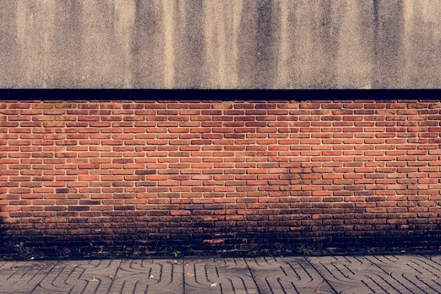 Modello di carta da parati arancione muro di mattoni for Carta da parati muro di mattoni