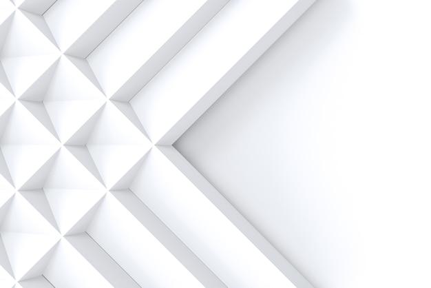 Modello di griglia quadrata geometrica bianca su sfondo spazio copia. Foto Premium