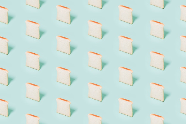 Modello di panetteria con pane cotto Foto Gratuite