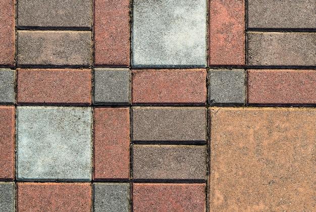 Modello di pavimentazione in mattoni Foto Premium