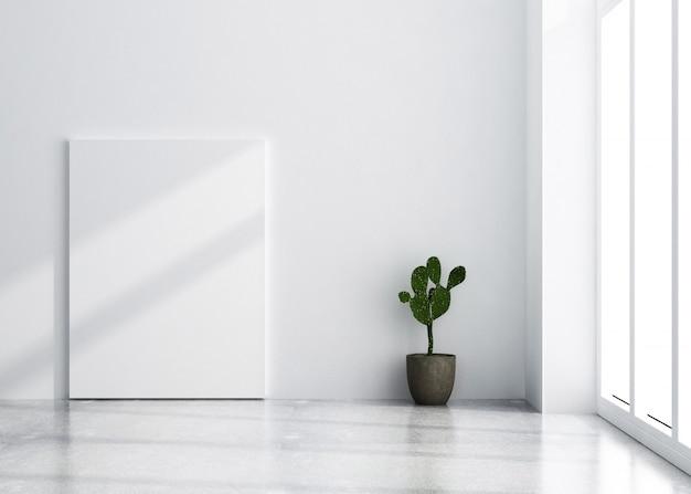 Modello di poster semplice stile nordico Foto Premium