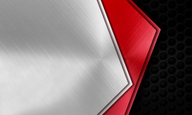 Modello di sfondo moderno framing metallo Foto Premium