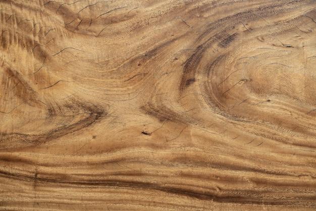 Modello di tavolo in legno come sfondo. Foto Premium