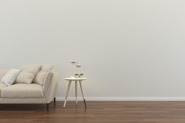 Modello interno del pavimento della casa del salone Foto Premium