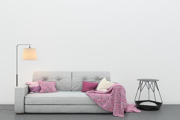 Pavimento Grigio Moderno : Modello moderno del fondo del modello del sofà grigio del
