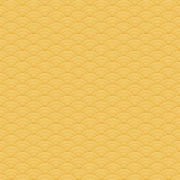 Modello senza cuciture arancio asiatico dei cerchi, ornamento giapponese - illustrazione Foto Premium