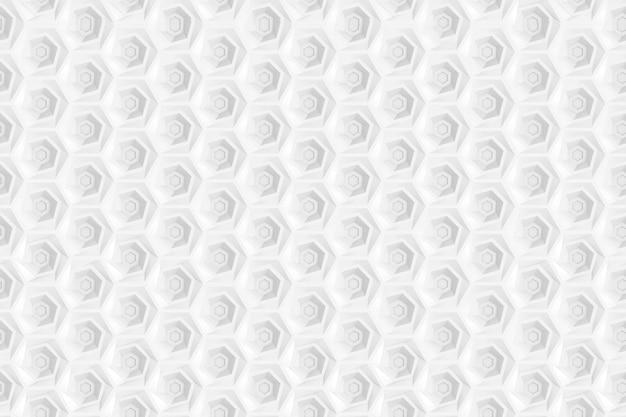 Modello senza cuciture di esagoni e cerchi basati sulla griglia esagonale Foto Premium
