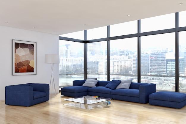Moderna sala interna Foto Premium