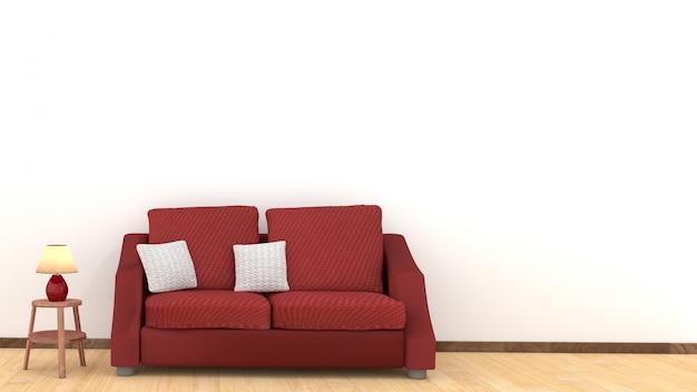 Soggiorno moderno con tavolo e divano tavolo in legno moderno