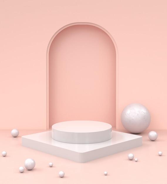 Moderno mockup minimalista per la visualizzazione o la vetrina del podio. Foto Premium