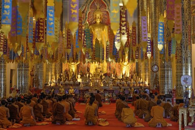 Molte preghiere del buddha Foto Premium