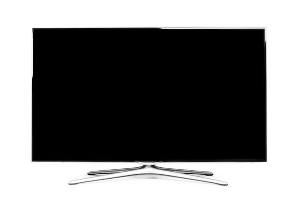Monitor 4k isolato su bianco Foto Premium