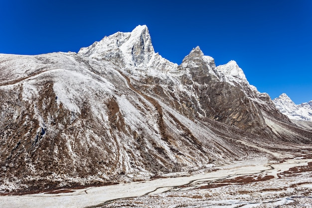 Montagne, regione dell'everest Foto Premium