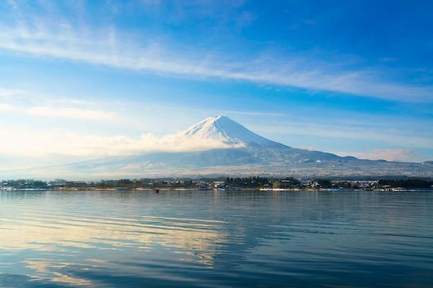 Monte fuji e lago kawaguchi, giappone Foto Gratuite