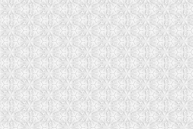 Motivo geometrico a luce tridimensionale con fiori a sei punte Foto Premium