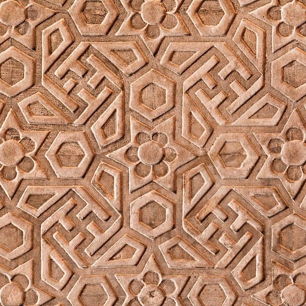 Motivo geometrico sul red fort Foto Premium