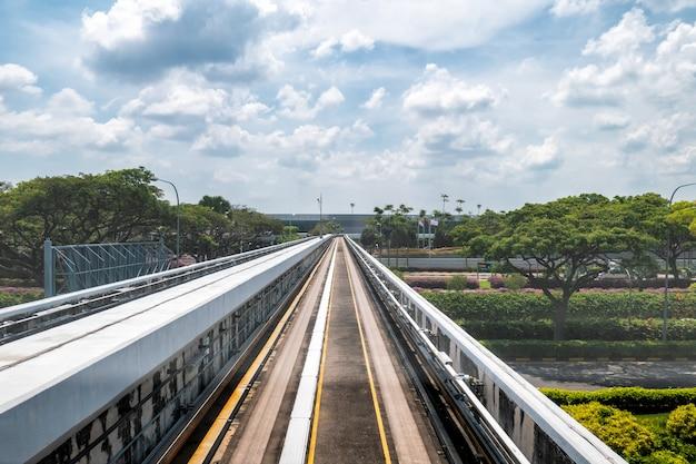 Movimento della ferrovia ad alta velocità Foto Premium